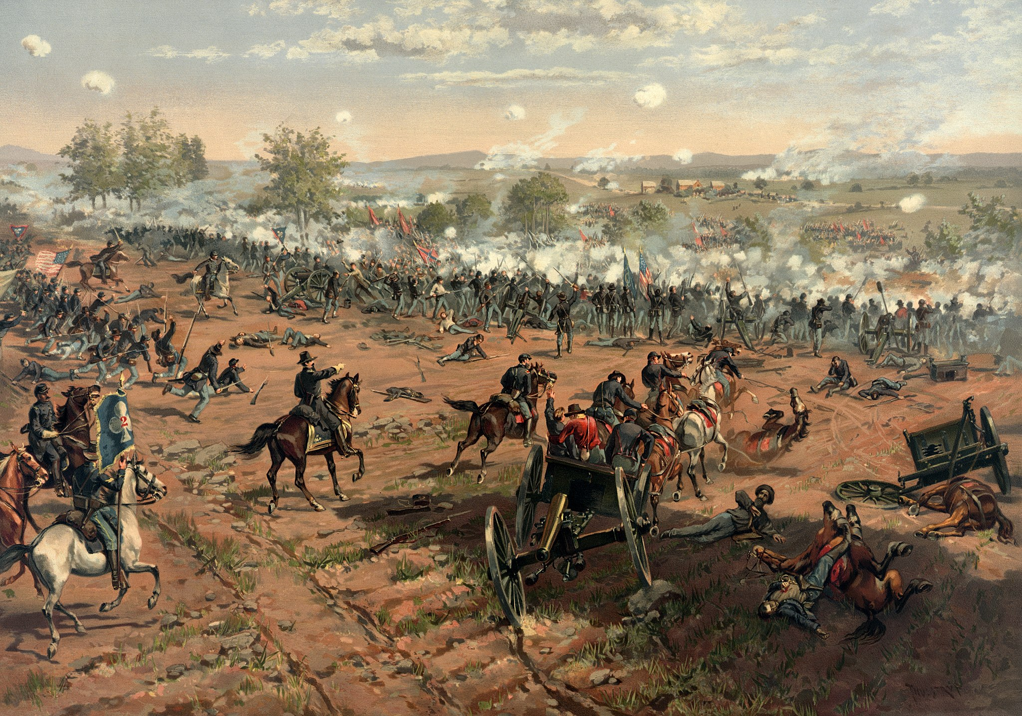 2048px-Thure_de_Thulstrup_-_L._Prang_and_Co._-_Battle_of_Gettysburg_-_Restoration_by_Adam_Cuerden_(cropped).jpg