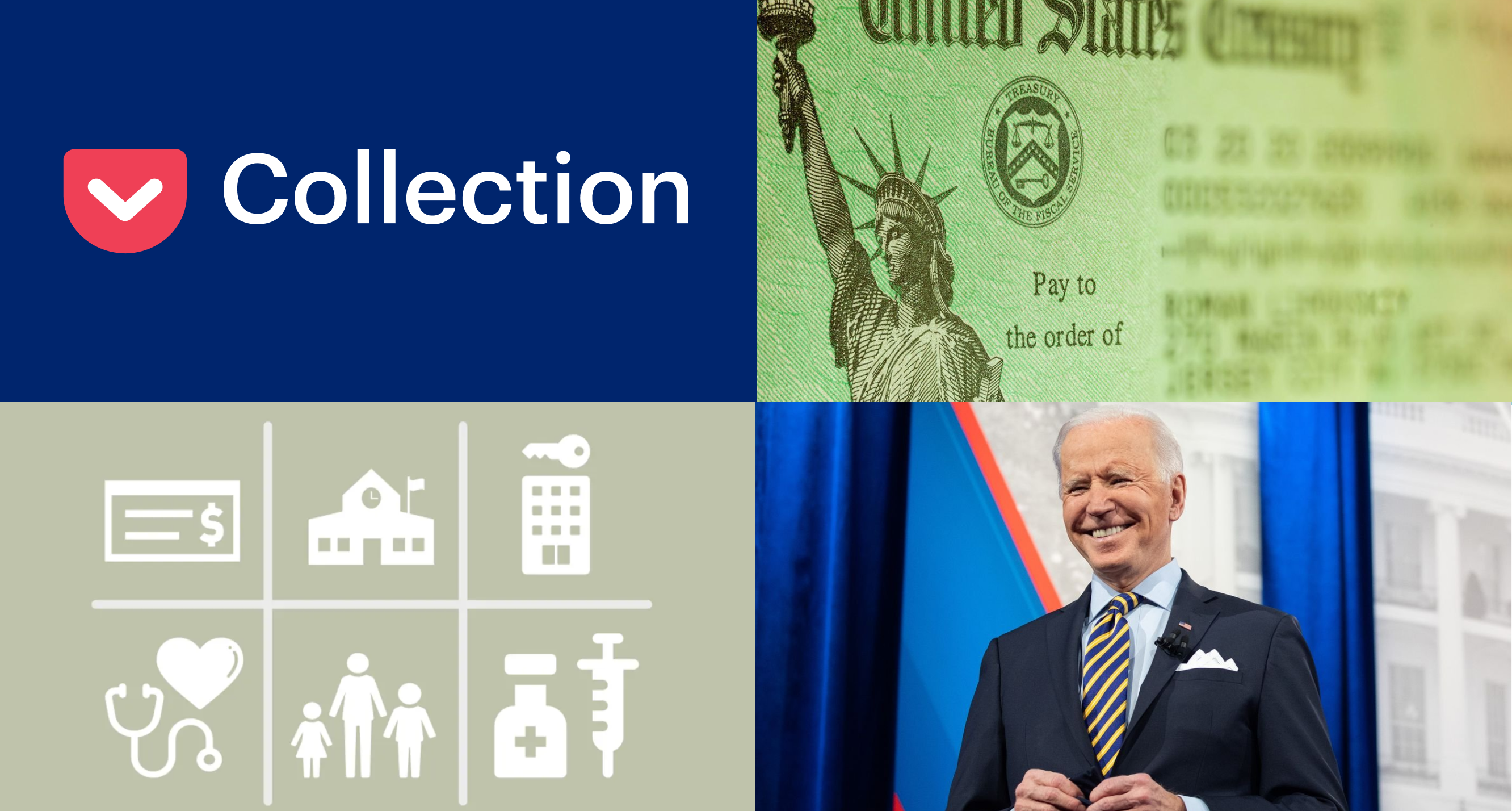 The Covid Stimulus Bill: What You Need to Know What's in Washington's newly passed stimulus bill, how it affects you, and what the pundits are saying about it. Pocket Collections      Alex Dalenberg  Read when you've got time 604ba2d6db812