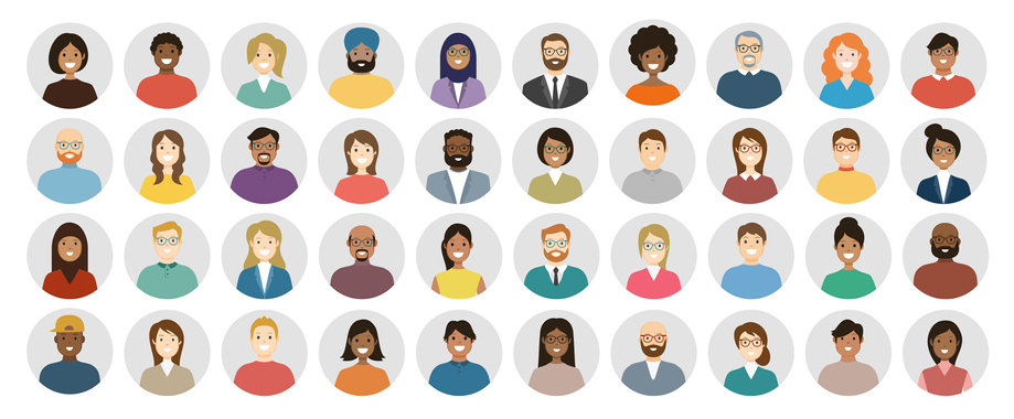 illustrations of a diverse group of people